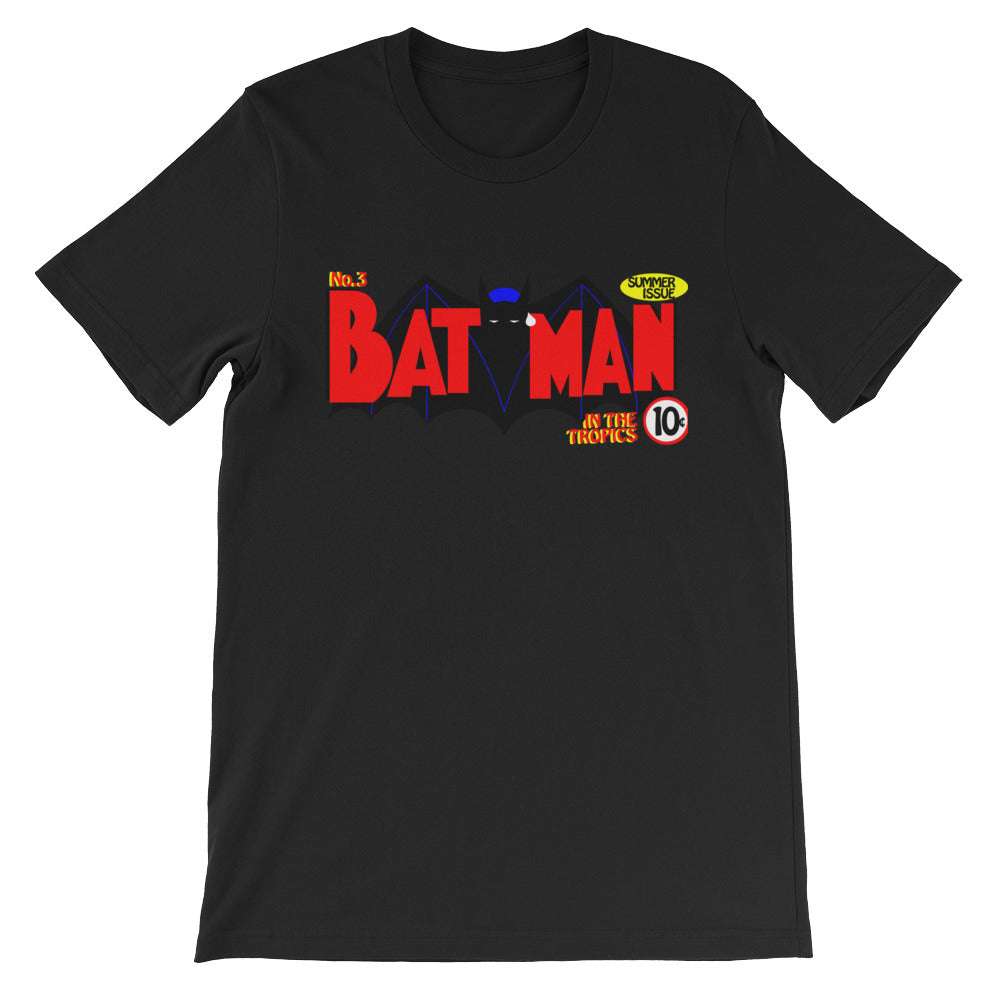 Unisex short sleeve t-shirt. The Bat in the tropics.