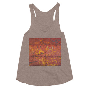 Metal door, Havana. Women's Tri-Blend Racerback Tank