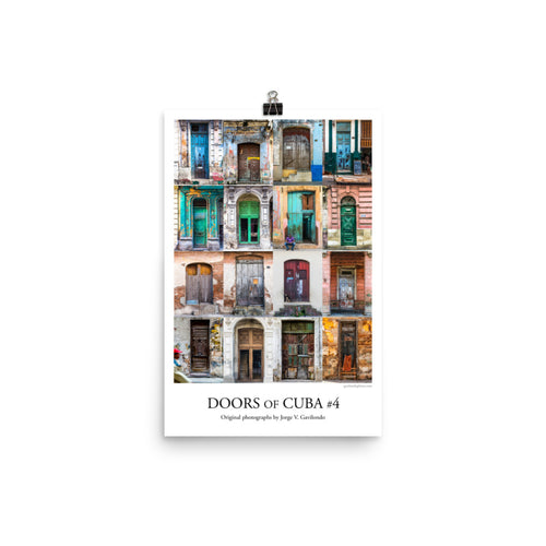 Poster. Doors of Cuba #4. Original photos by Studio Gavilondo. 12 x 18 in.
