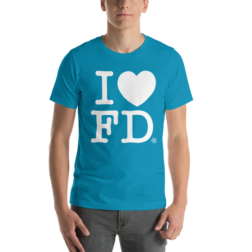 Short-Sleeve Unisex T-Shirt. I Love FanDuel (Outside labeled)