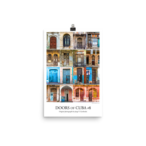 Poster. Doors of Cuba #8. Original photos by Studio Gavilondo. 12 x 18 in.