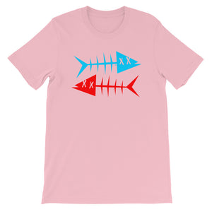 Blue fish, red fish. Short-Sleeve Unisex T-Shirt
