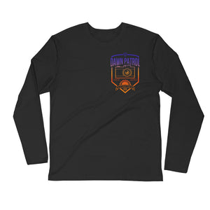 Dawn Patrol. Photographic workshops. (The Shield) Long Sleeve Fitted Crew