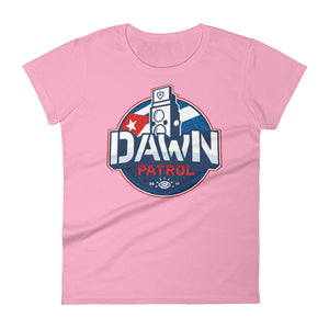 Women's short sleeve t-shirt. Dawn Patrol. Photographic workshops. Cuba. The Flag.