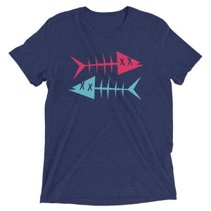 Magenta fish, cyan fish. Short sleeve t-shirt