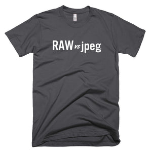 RAW vs jpeg. Short-Sleeve T-Shirt