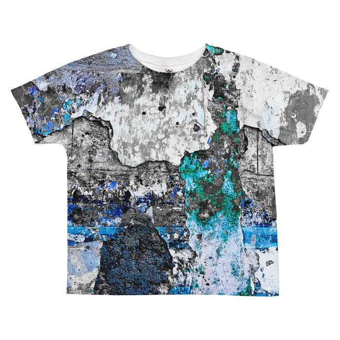 All-over kids sublimation T-shirt. Havana wall (just blue)