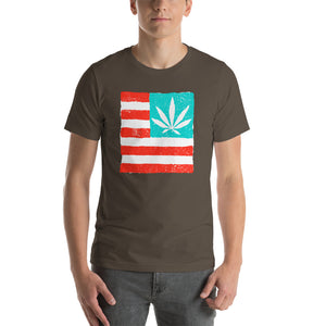 United State of Cannabica Short-Sleeve Unisex T-Shirt. 4/20 SPECIAL!