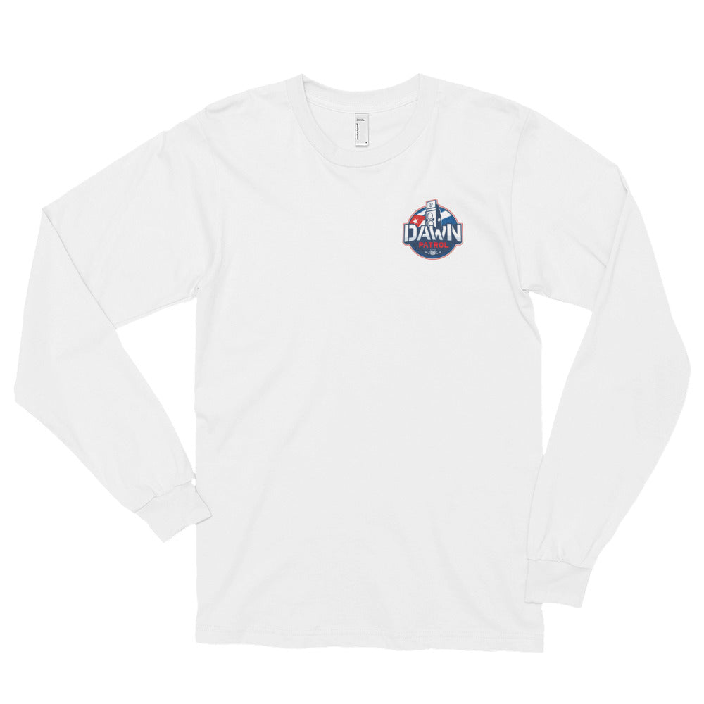 Dawn Patrol. Photographic workshops. (The Flag) Long sleeve t-shirt (unisex)