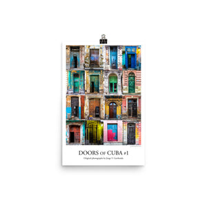 Poster. Doors of Cuba #1. Original photos by Studio Gavilondo. 12 x 18 in.