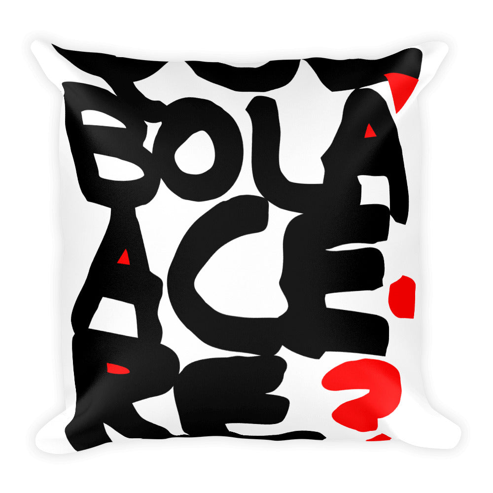Square Pillow. Original Print. What's up man?