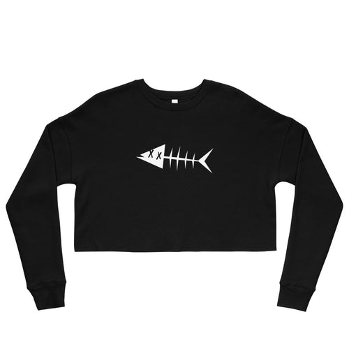 White fish. Crop Sweatshirt