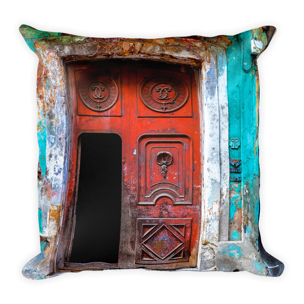 Havana doors. Square Pillow