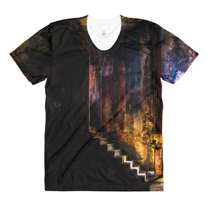 Sublimation women's crew neck t-shirt. Havana Interior.