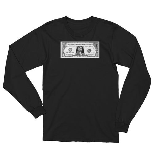 Skull Dollar. Unisex Long Sleeve T-Shirt