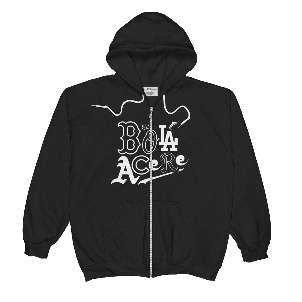 Unisex  Zip Hoodie. Original print. Que bola acere. Cuban presence in the MLB.