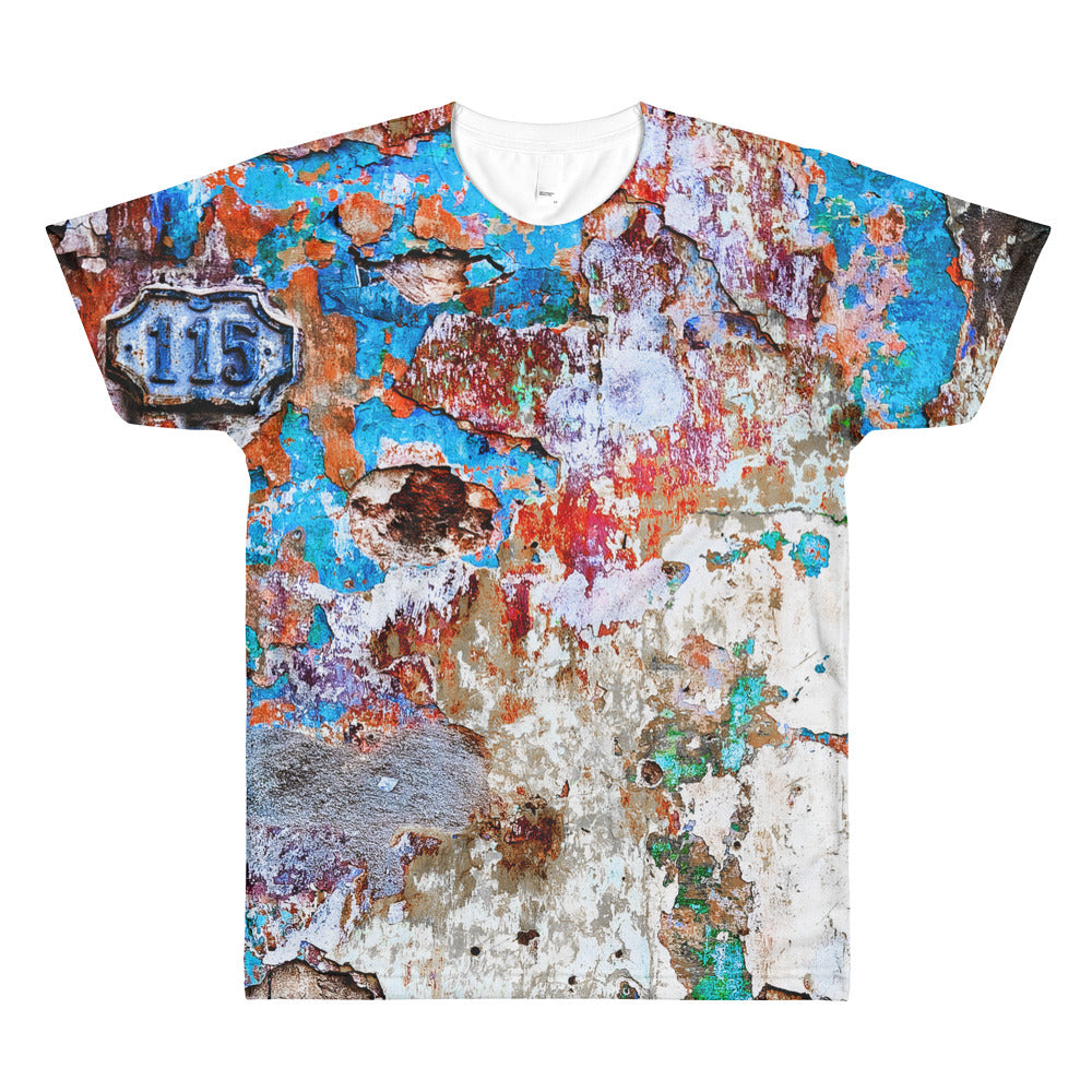 All-Over Printed T-Shirt. Havana wall. (no yellow)