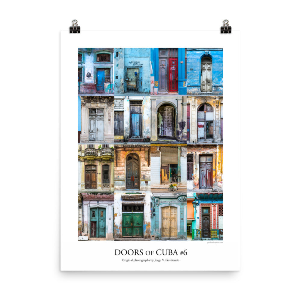 Poster. Doors of Cuba #6. Original photos by Studio Gavilondo. 18 x 24 in.