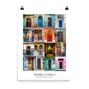 Poster. Doors of Cuba #2. Original photos by Studio Gavilondo. 18 x 24 in.