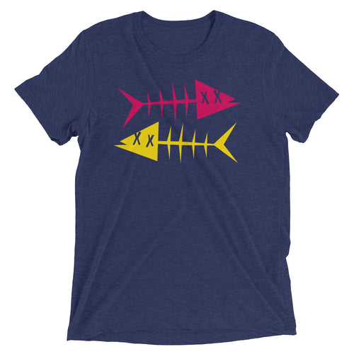Magenta fish, yellow fish. Short sleeve t-shirt
