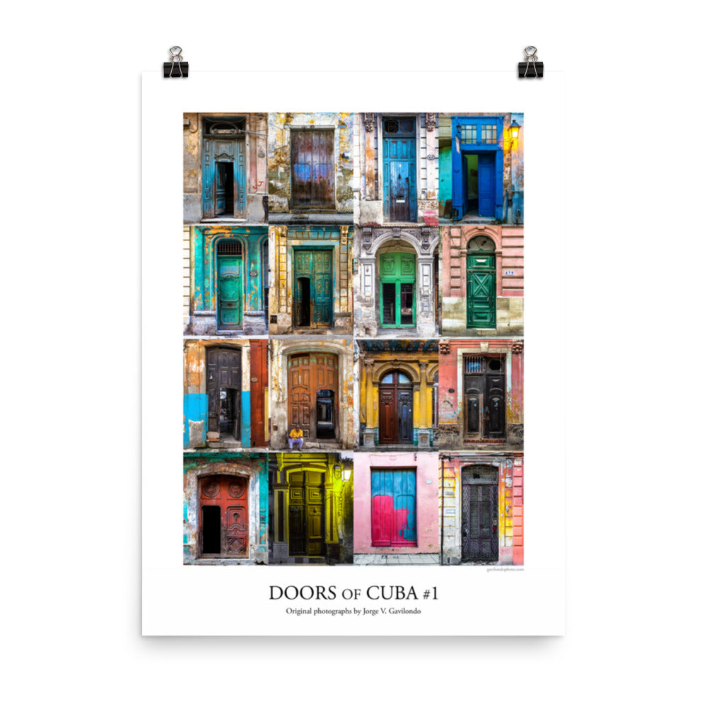 Poster. Doors of Cuba #1. Original photos by Studio Gavilondo. 18 x 24 in.