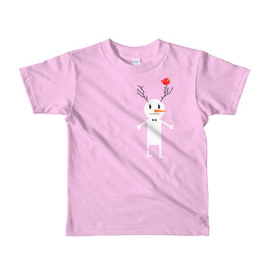 Snowman & bird. Short sleeve kids t-shirt