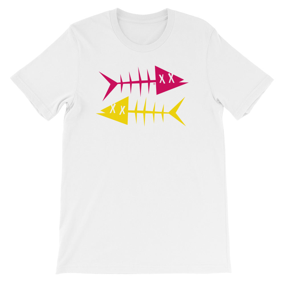 Yellow fish, magenta fish. Short-Sleeve Unisex T-Shirt