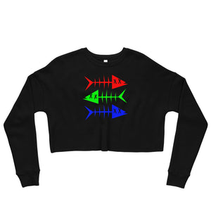 RGB Fish. Crop Sweatshirt