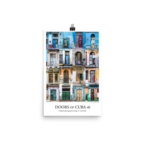 Poster. Doors of Cuba #6. Original photos by Studio Gavilondo. 12 x 18 in.