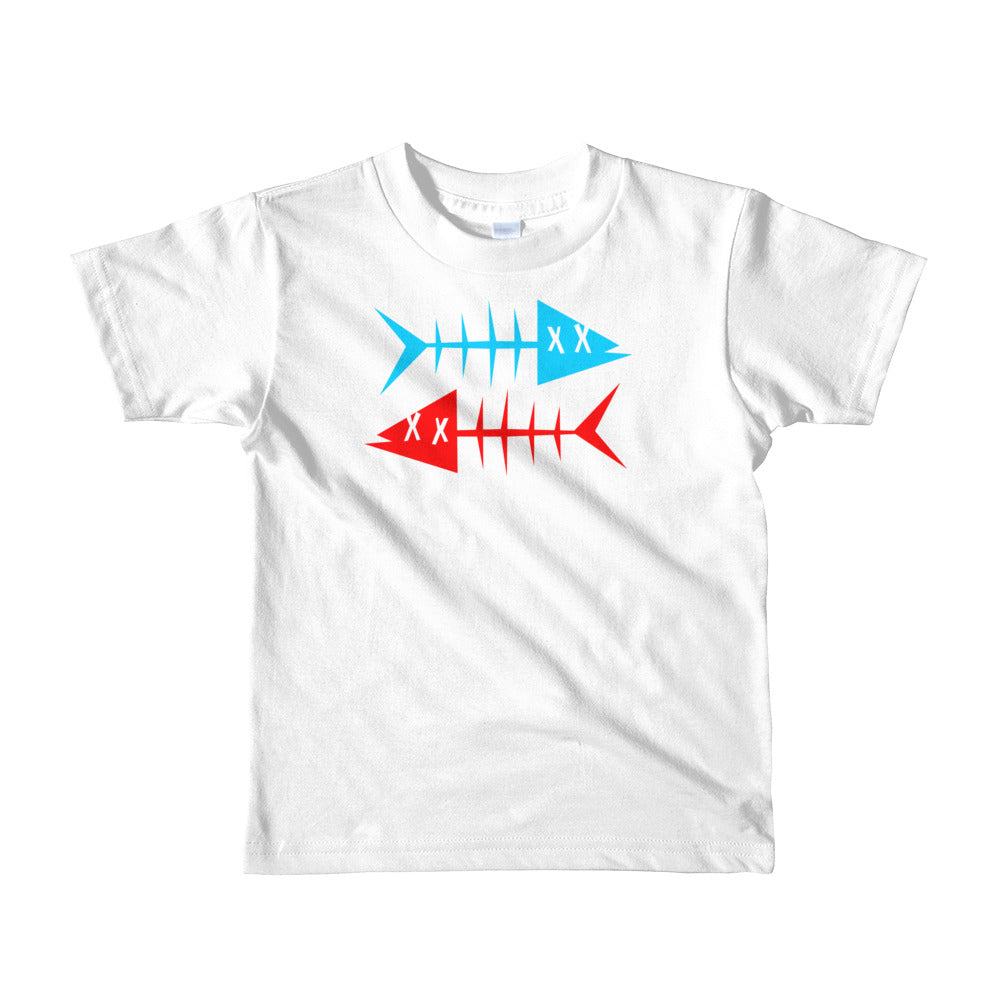 Blue fish, red fish. Short sleeve kids t-shirt