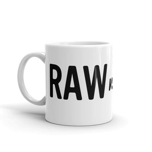 RAW vs jpeg. White Glossy Mug