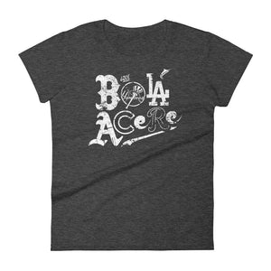 Women's short sleeve t-shirt. Fashion Fit. Que Bola Acere. Cuban Presence on MLB. New print.