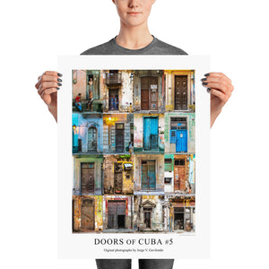 Poster. Doors of Cuba #5. Original photos by Studio Gavilondo. 18 x 24 in.