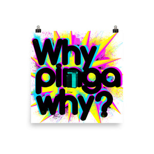 Why pinga why? Poster 18 x 18 in.