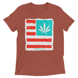 Short sleeve t-shirt. United State of Cannabica. Exclusive print.