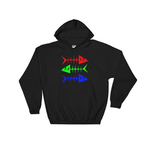 RGB Fish. Hooded Sweatshirt