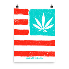 Poster. United State of Cannabica. Original wall art.