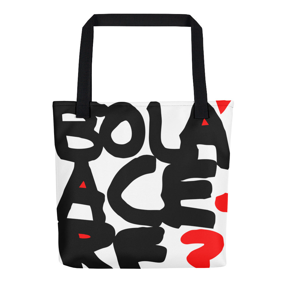 Tote bag. What's up man?
