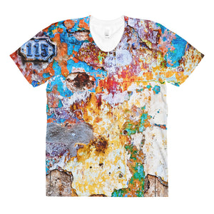 Sublimation women's crew neck t-shirt. Havana wall.