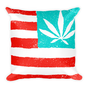 United State of Cannabica. Square Pillow