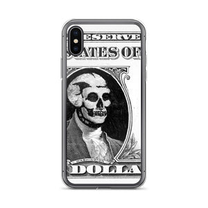 Skull Dollar. iPhone Case