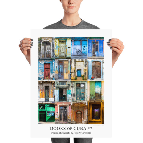 Poster. Doors of Cuba #7. Original photos by Studio Gavilondo. 18 x 24 in.
