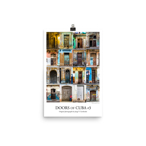 Poster. Doors of Cuba #3. Original photos by Studio Gavilondo. 12 x 18 in.