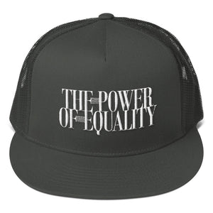 Mesh Back Snapback. The power of equality.