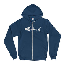 White fish. Hoodie sweater