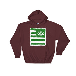 Hooded Sweatshirt. United state of Cannabica. New print.