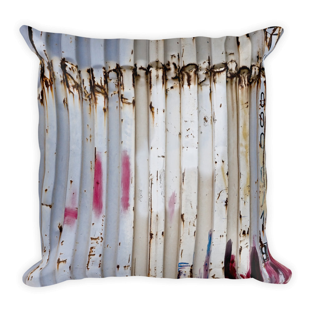 Square Pillow. Container, Vedado Neighbor. Original print. Image by Studio Gavilondo.
