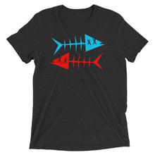 Blue fish, red fish. Short sleeve t-shirt