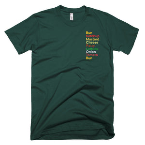 Font hamburger. Short-Sleeve T-Shirt