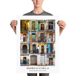 Poster. Doors of Cuba #3. Original photos by Studio Gavilondo. 18 x 24 in.